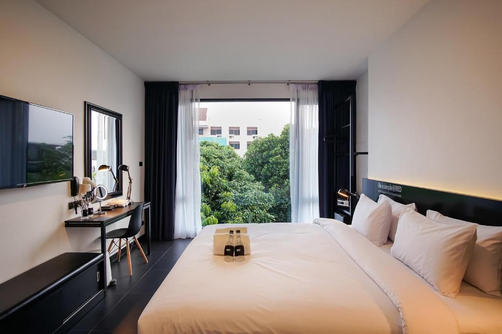 BED Chiangmai Gate double room with super cool view